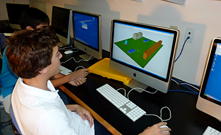 Students in the STEM education program at Gulliver Preparatory School in Miami use CAD software to design solutions to the challenges they see in their communities and around the world. Among other humanitarian projects they have completed, students delivered a portable water purification system to a children's hospital in Haiti in July 2010. Image courtesy of Gulliver Preparatory School.