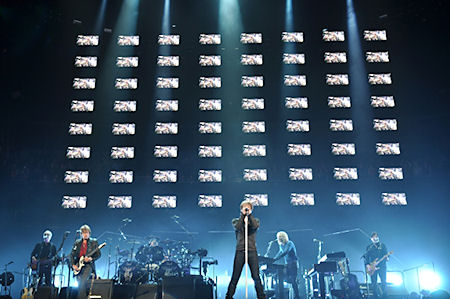 Tait Towers, the premier touring entertainment company in the world, has designed stages for almost every artist touring today, including rock band Bon Jovi's The Circle Tour. (Image courtesy of Tait Towers.)
