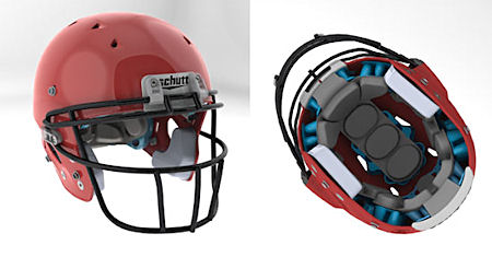 Cooling vents and a multipart cushioning system are two of the design elements integral to this Schutt Ion helmet.