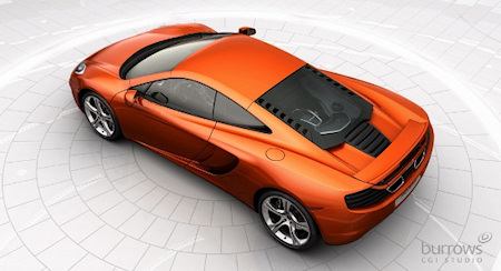 Burrows CGI creates photorealistic images for automakers including McLaren.