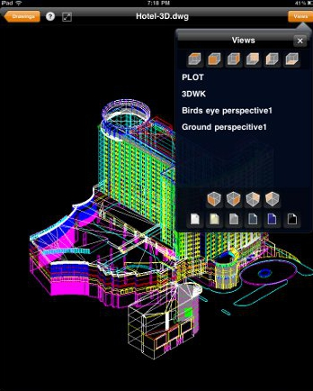 TurboViewer, a free app from IMSI/Design, makes it easy to view 2D and 3D wireframe drawings on your iPad or iPhone.